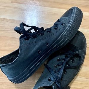 Women's converse in black monochrome